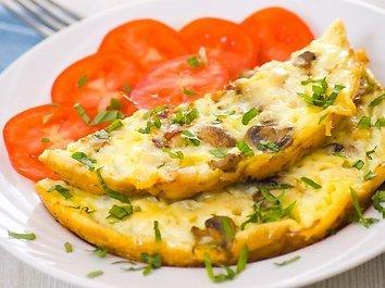 Belgiškas grybų omletas