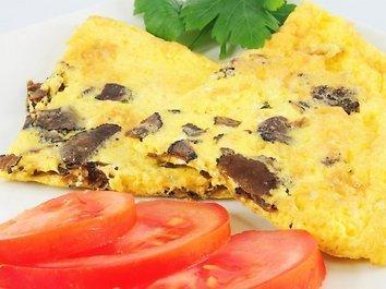 Rudeninis omletas su voveraitėmis