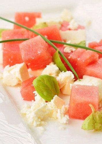 Arbūzo ir fetos salotos